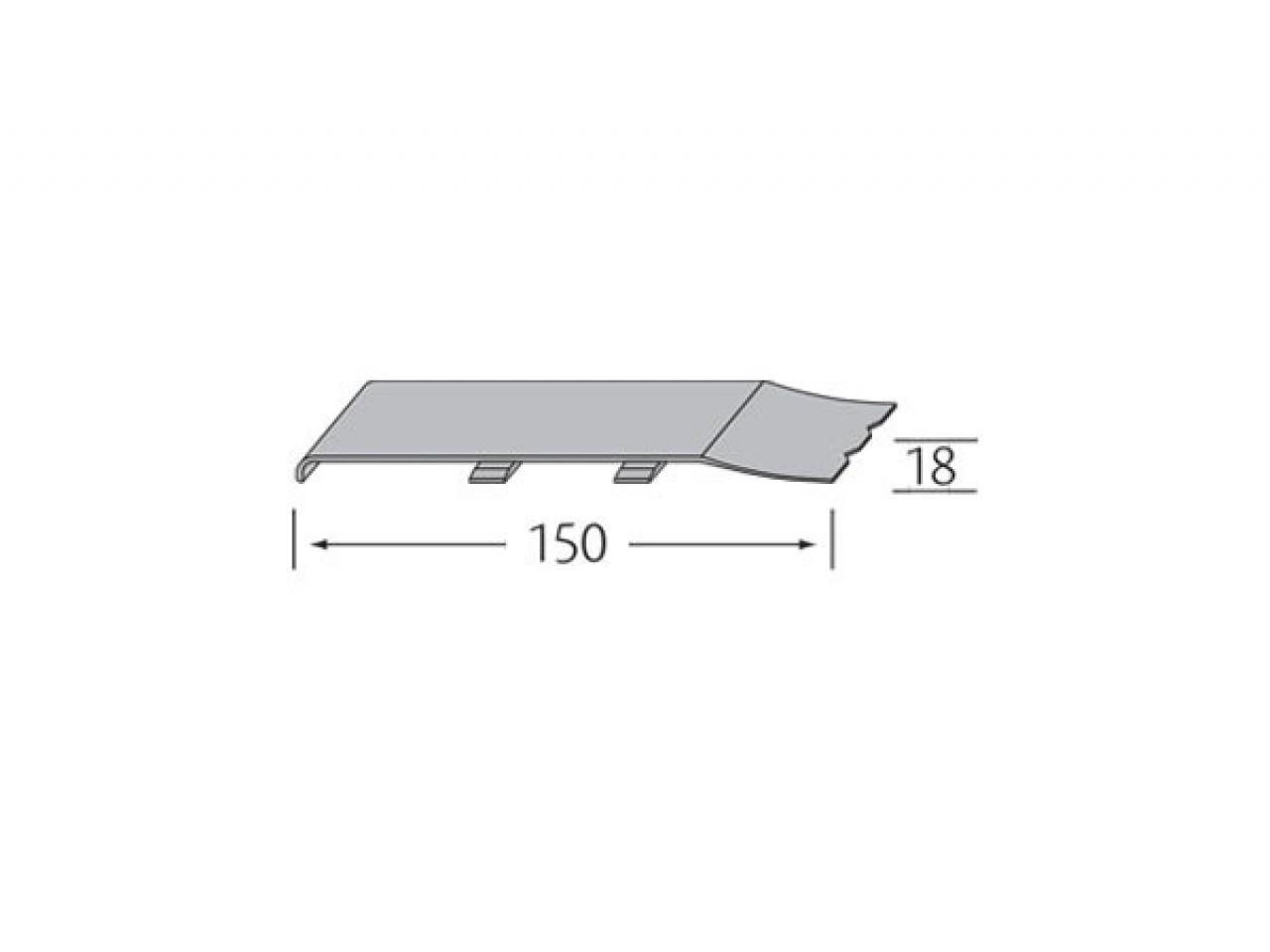 Stootvoegverbinding 150 mm (voor rabatdelen) - VinyPlus
