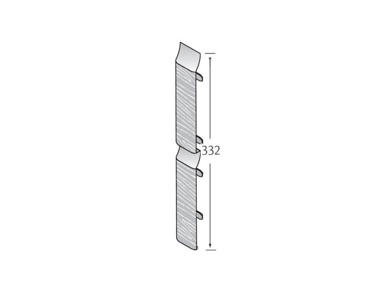 Stootvoegverbinding 332 mm (voor dubbel rabat) - Eurotexx