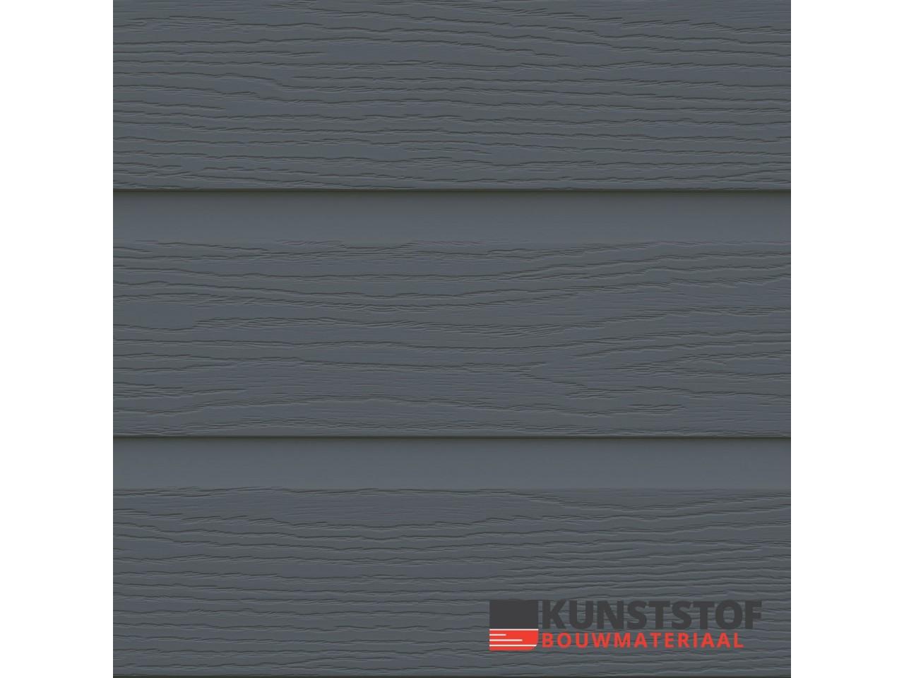 Eurotexx Dubbel rabat kunststof gevelbekleding in de kleur antraciet donkergrijs - RAL 7015