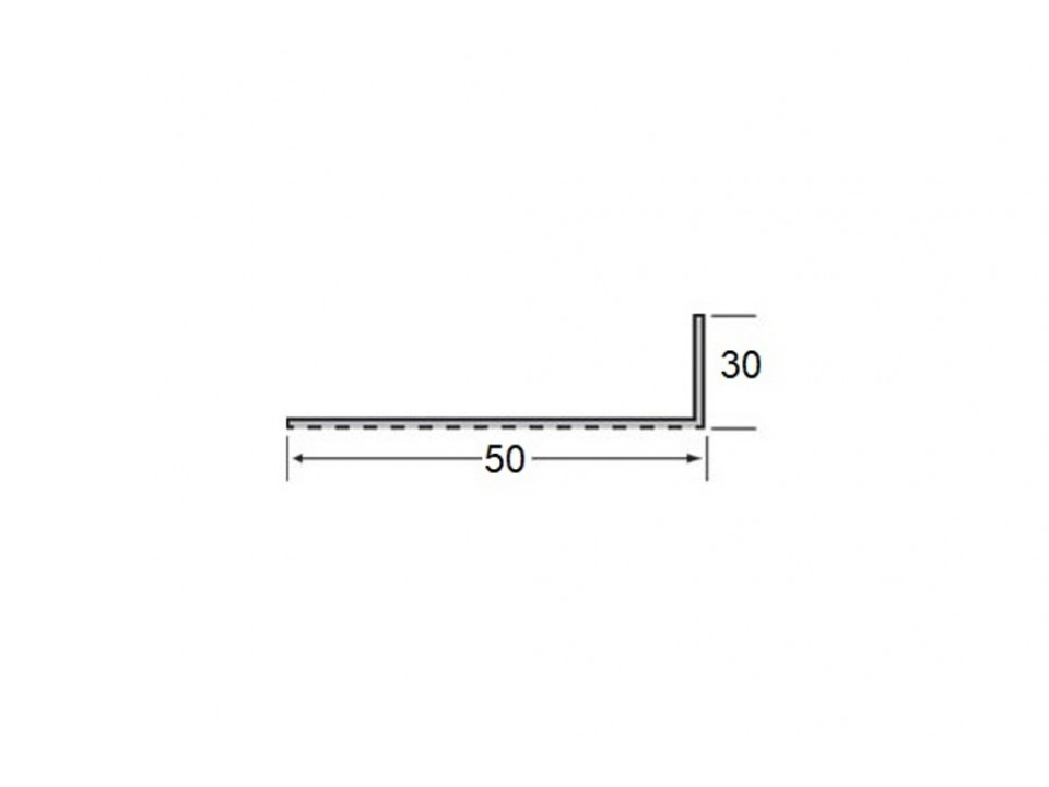 Ventilatieprofiel 30 x 50 x 2 mm