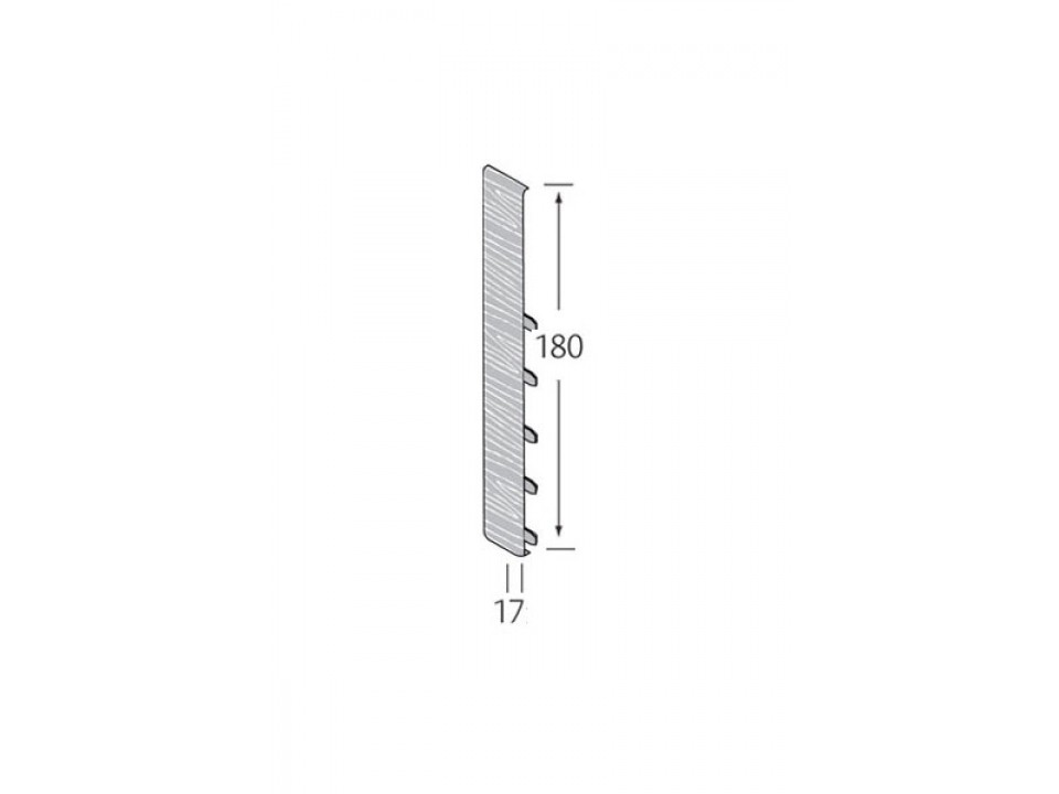 Stootvoegverbinding 180 mm (voor potdeksel) - WoodDesign