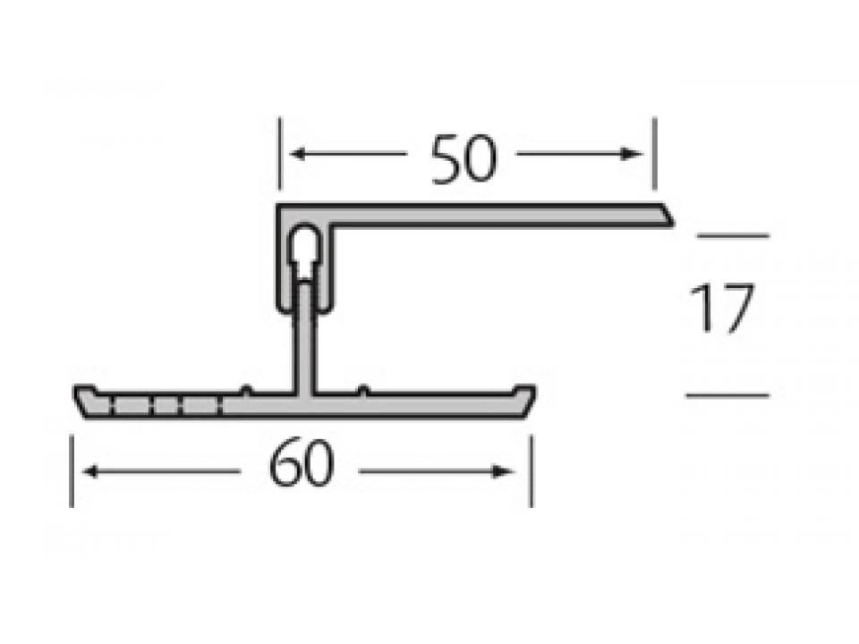 Ventilatie afsluitprofiel 2-delig 17 mm - Eurotexx