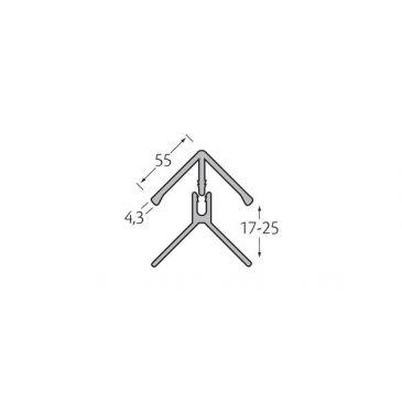 Hoekprofiel 2-delig - WoodDesign - Donker bruin (grafiet)