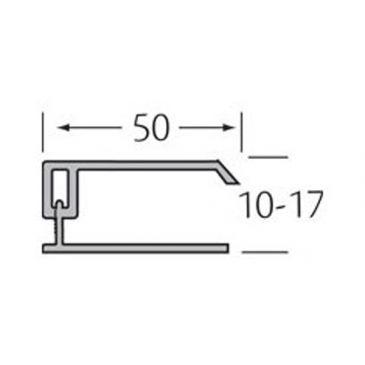 Eindprofiel 2-delig - WoodDesign - Donker bruin (grafiet)