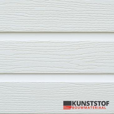 Eurotexx Dubbel rabat kunststof gevelbekleding in de kleur wit - RAL 9010