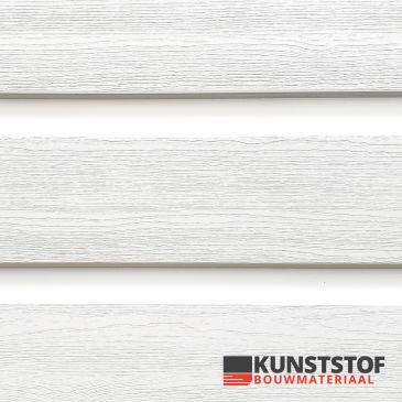 Kunststof dubbel rabat van Profex in de kleur witmet RAL 9010 is een kostenefficiënte oplossing door de dubbele werking. Dit voor uw chalet, stacaravan, woonwagen of woning.