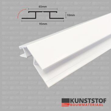 vouwhoekprofiel profex duafort kunststof gevelbekleding 10mm is leverbaar in 4 kleuren