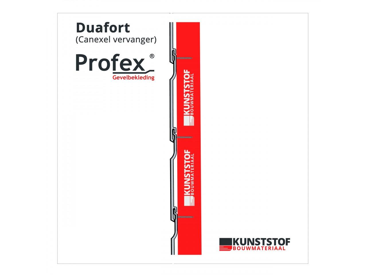Profex Duafort canexel vervanger zijaanzicht kunststof gevelbekleding canexel vervangen kunststof bouwmateriaal