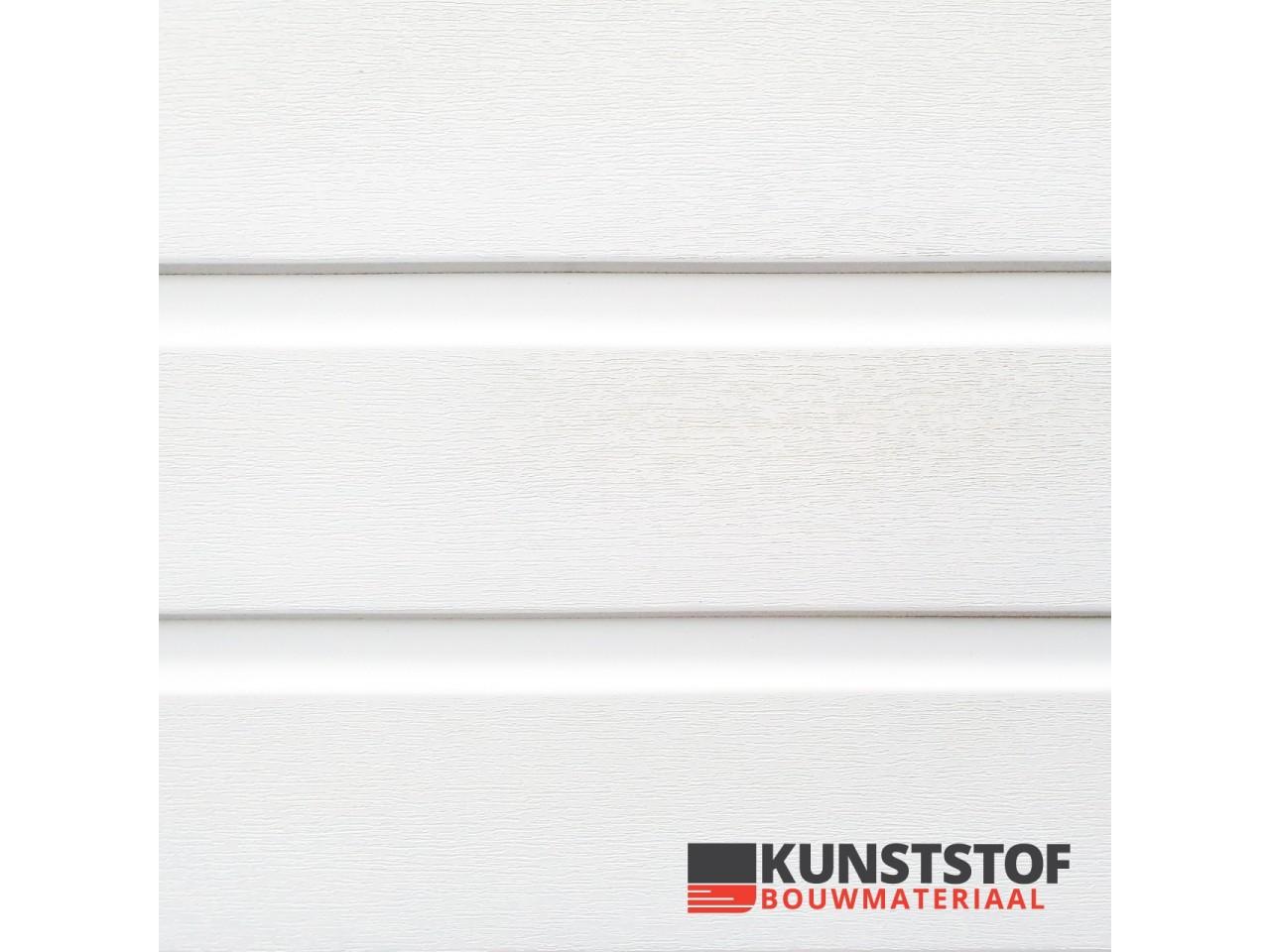 Profex Duafort kunststof gevelbekleding wit met een prachtig wit effect van deze Canexel vervanger, mat witte uitstraling