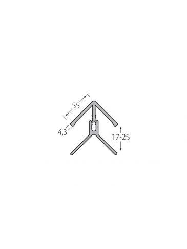 Hoekprofiel 2-delig - WoodDesign - Grijs