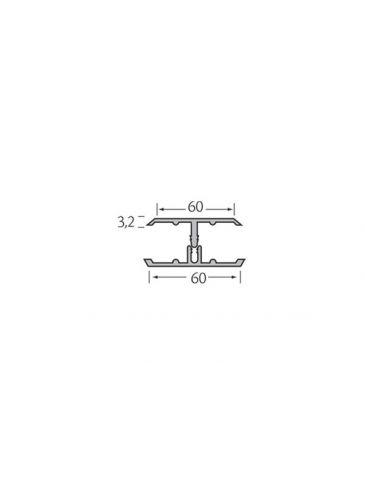 Verbindingsprofiel 2-delig - WoodDesign - Grijs