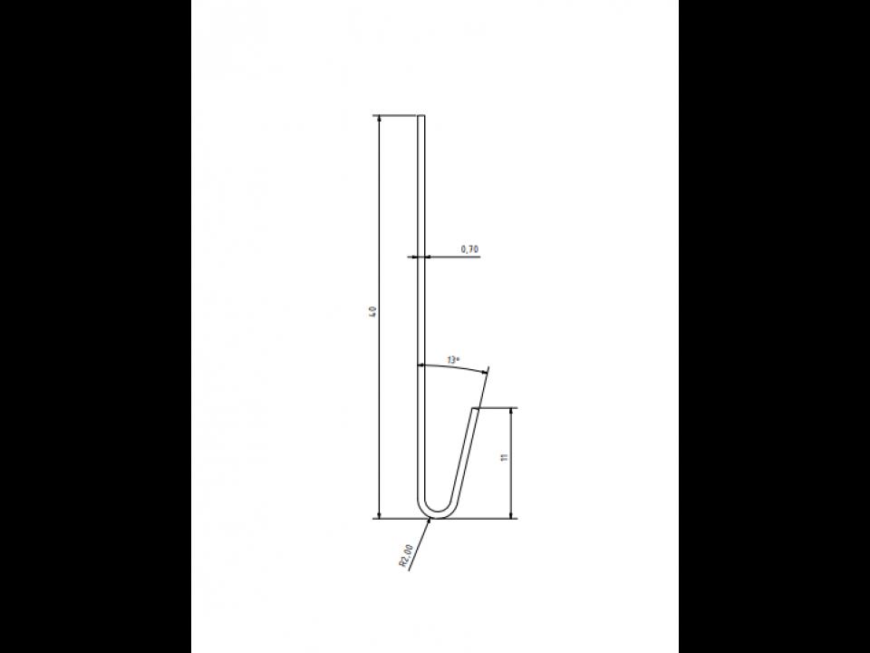 Duafort startprofiel detailtekening