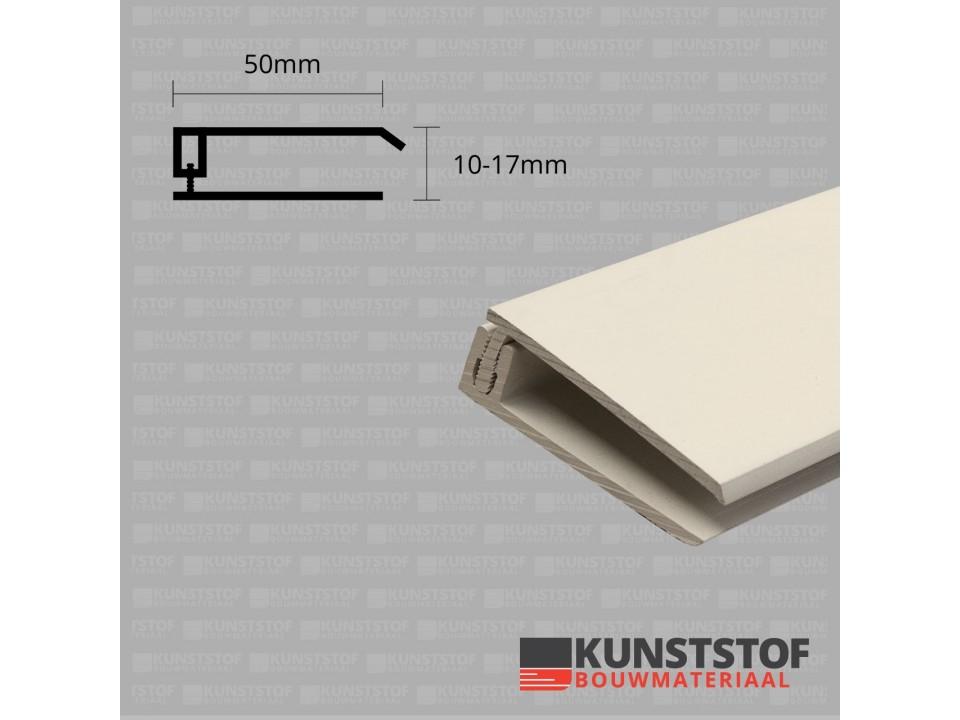 Eurotexx Dubbel Rabat - potdeksel 50mm eindprofiel kunststof gevelbekleding in de kleur sandral 1015