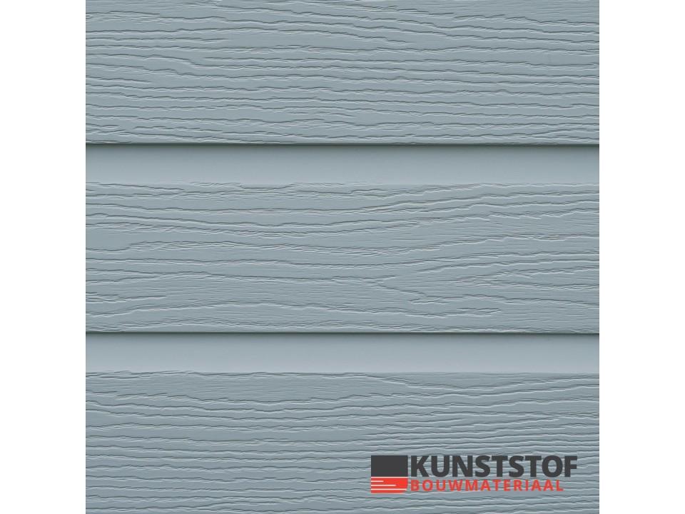 Eurotexx Dubbel rabat kunststof gevelbekleding in de kleur grijs - RAL 7001
